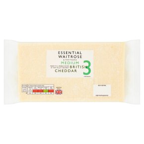 essential Waitrose English medium Cheddar cheese, strength 3