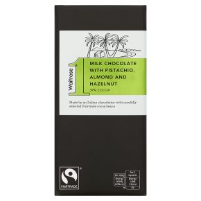 Waitrose 1 pistachio, hazelnut & almond milk chocolate