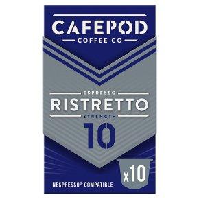 Cafépod Ristretto 10 Capsules Strength 10