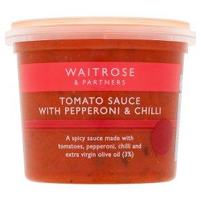 Waitrose tomato sauce with pepperoni & chilli