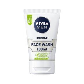 Nivea for Men face wash, sensitive