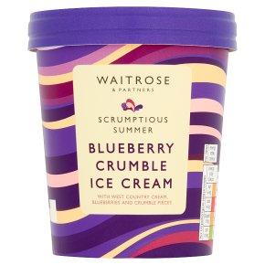 Waitrose Blueberry Crumble Ice Cream