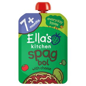 Ella's Kitchen Organic lip smacking spag bol with a sprinkle of cheese - stage 2 baby food