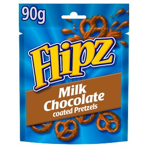 Flipz milk Chocolate Coated Pretzels