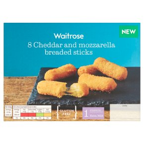 Waitrose Cheddar & Mozzarella Breaded Sticks