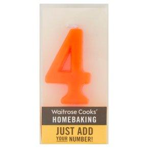 Waitrose Cooks' Homebaking Number 4 Candle