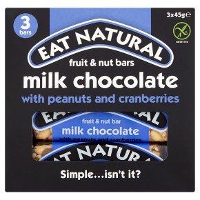Eat Natural peanuts, cashews, cranberries & milk chocolate bars