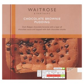Waitrose chocolate brownie pudding