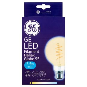GE LED Filament Heliax Globe 95