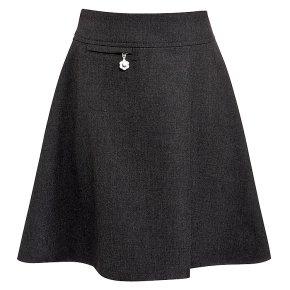 Girls A-line skirt, grey, 10 years