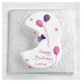 3rd Birthday Butterfly Cake