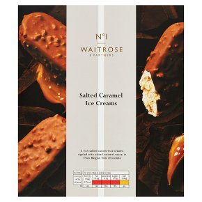 Waitrose 1 salted caramel ice creams