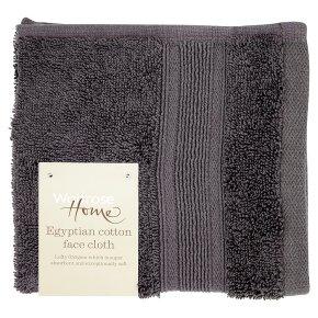 Waitrose Home Egyptian Cotton Face Cloth Grey