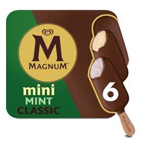 Magnum Mini classic, dark & mint 6 pack ice cream