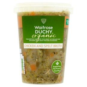 Waitrose Duchy Organic chicken & spelt broth