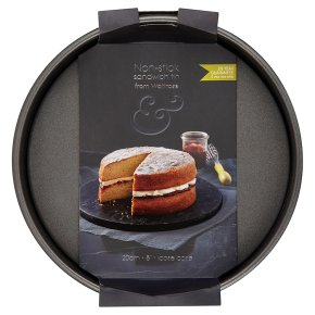 from Waitrose 20cm (8) non-stick loose base deep sandwich tin