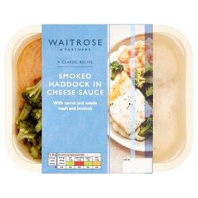 Waitrose haddock in cheese sauce