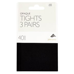 John Lewis 40 denier opaque navy tights (large)