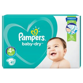 Pampers Baby Dry 4+ Essential 41 Nappies