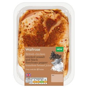 Waitrose British Chicken Seasalt & Pepper Breast Joint