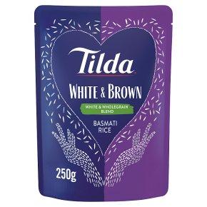 Tilda steamed white & brown basmati rice