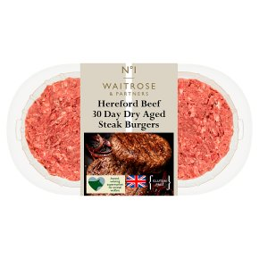 Waitrose 1 Dry Aged Hereford Steak Burgers