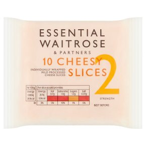 essential Waitrose cheese, strength 1, 10 slices