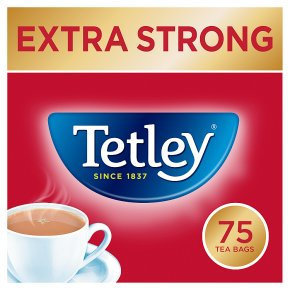 Tetley extra strong 75 tea bags