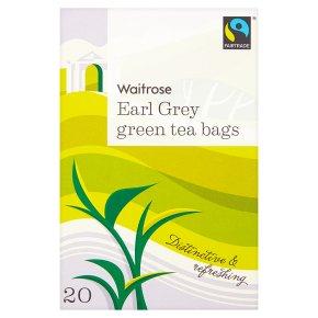 Waitrose Earl Grey Green Tea Bags