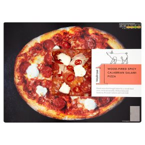 Waitrose 1 wood-fired spicy calabrian salami pizza