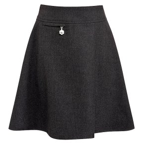 Girls A-line skirt, grey, 8 years