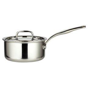 from Waitrose tri-ply lidded saucepan