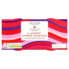 Waitrose Layered Summer Fruit Puddings