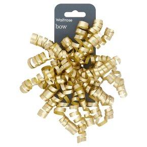 Waitrose gold bow