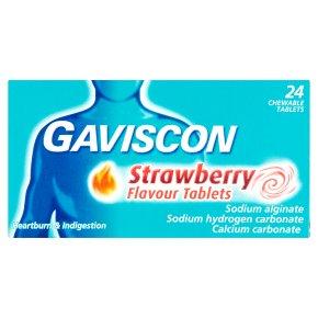 Gaviscon Strawberry Tablets