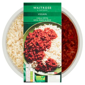 Waitrose Vegan Chilli with Soya Mince & Rice