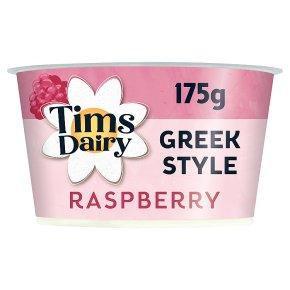 Tims Dairy Greek Style Yogurt with Raspberry