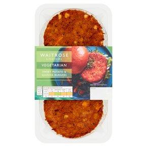 Waitrose Vegetarian Sweet Potato & Quinoa Burgers
