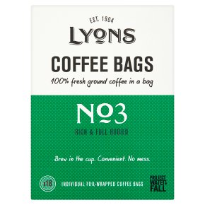 Lyons No3 Rich & Full Coffee Bags