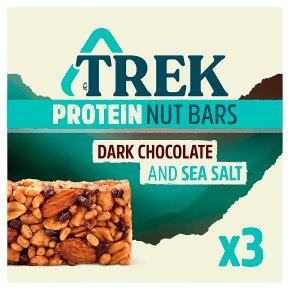 Trek Protein Nut Bars Dark Chocolate & Sea Salt