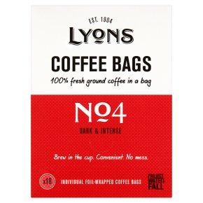 Lyons No 4 Dark & Intense Coffee Bags