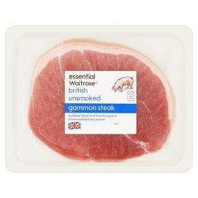 essential Waitrose unsmoked British gammon steak