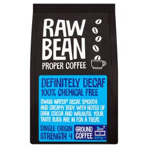 Raw Bean decaffeinated ground coffee