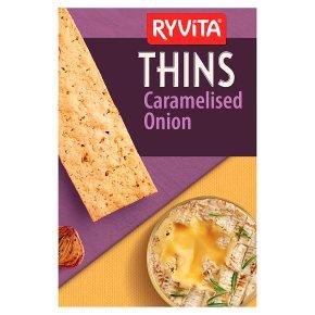 Ryvita Thins Caramelised Onion Flatbreads