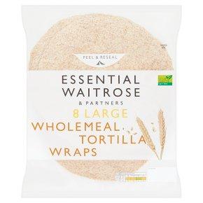 essential Waitrose 8 wholemeal tortilla wraps