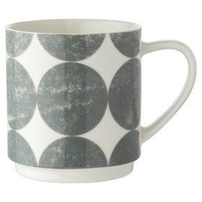 Waitrose Grey Spots Stacker Mug