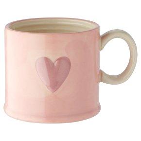 Waitrose Heart Embossed Mug