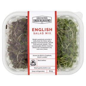 Growing Underground English Salad Mix