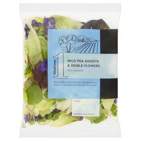 Waitrose 1 Pea Shoots & Edible Flowers