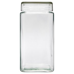 Waitrose Cooking 2.1 litre square storage jar